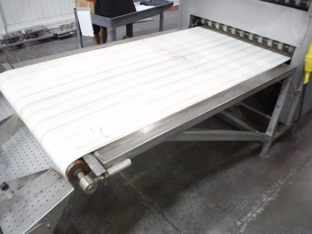 Lawrence equipment cooling conveyor, 50 ft. long x 36 in. wide x 28 in. infeed x 38 in.discharge, 9 - Image 8 of 8