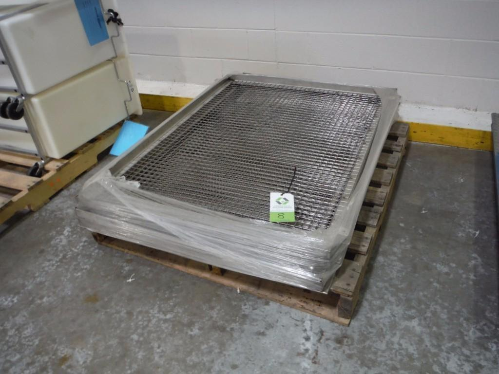 Pallet of SS screen panels, 50 in. long x 36 in. wide / Rigging Fee: $50