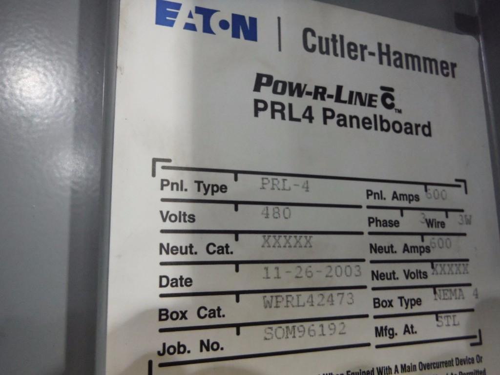 Cutler-Hammer panelboard / Rigging Fee: $350 - Image 2 of 2