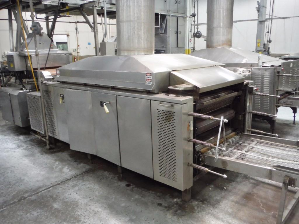 Lawrence 3 pass oven, Model 0F03410-15, SN F0342, 1,000,000 BTU, Natural Gas, 108 in. long x 36 in.