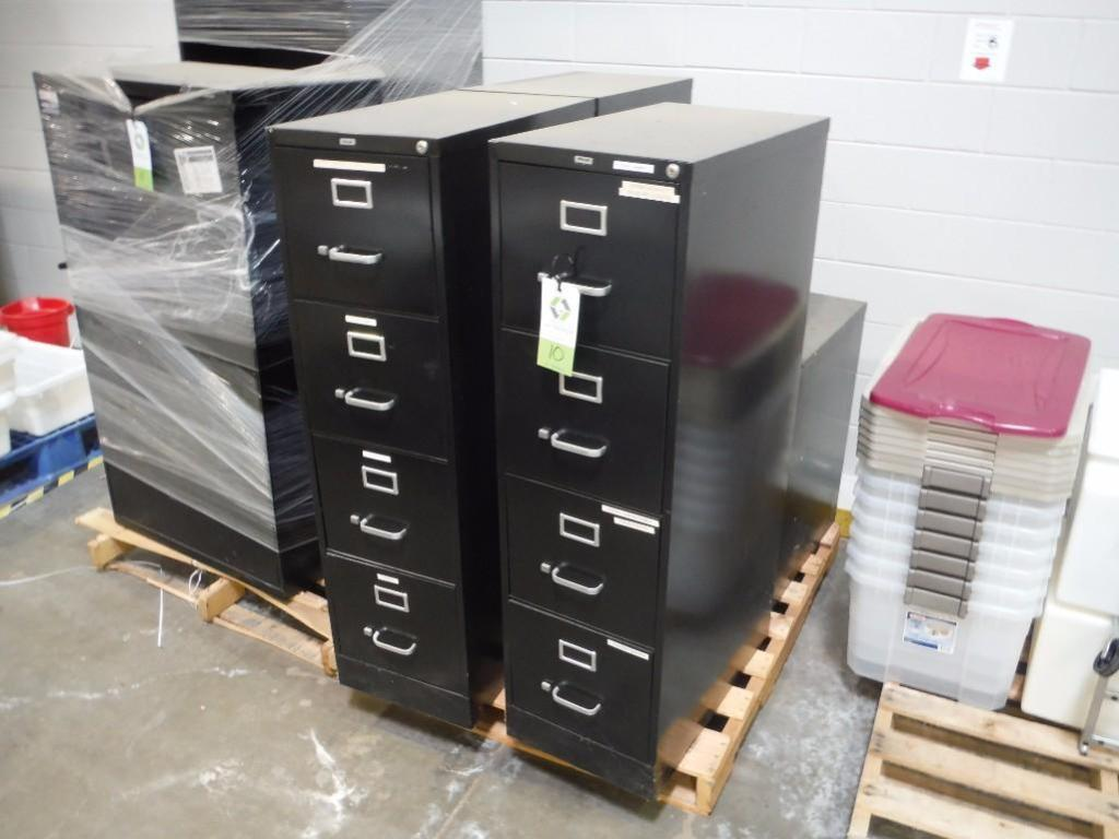 (4) vertical filing cabinets / Rigging Fee: $50
