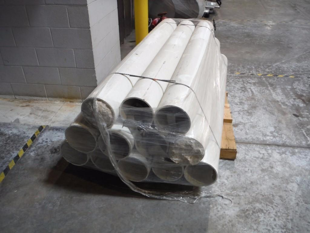 (12) pvc pipes, 8 in. dia x 80 in. long / Rigging Fee: $25 - Image 2 of 2