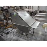 Hapman SS feeder hopper, 44 in. long x 42 in. wide x 63 in. tall / Rigging Fee: $150