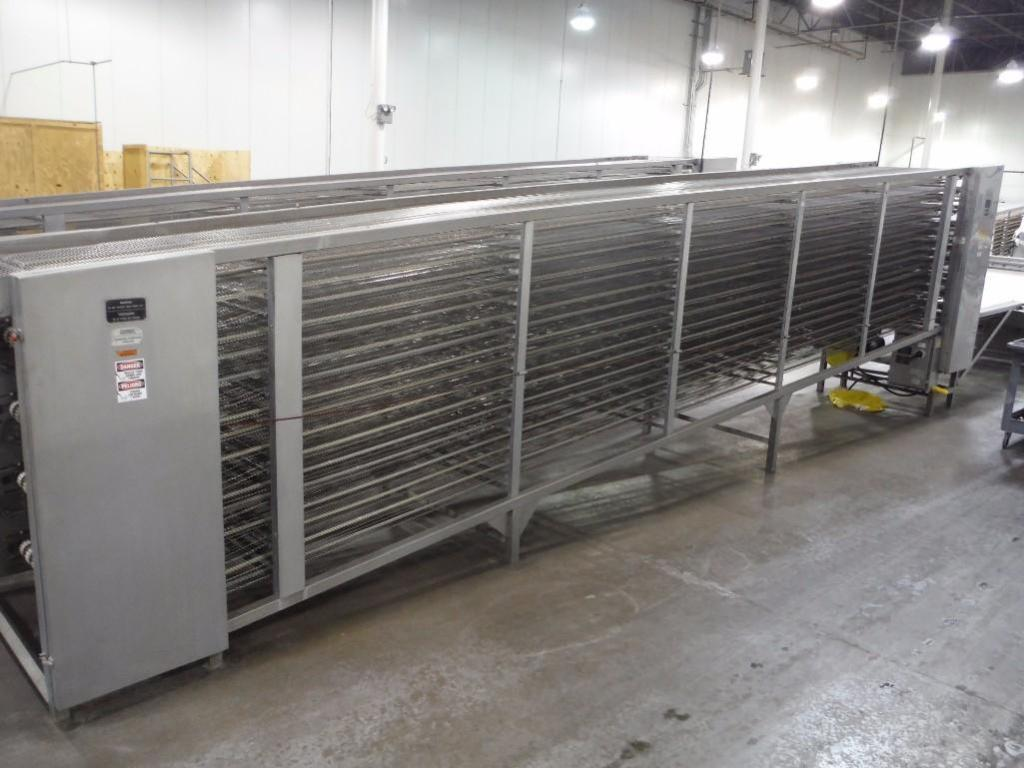 Lawrence equipment cooling conveyor, 50 ft. long x 36 in. wide x 28 in. infeed x 38 in.discharge, 9 - Image 2 of 8