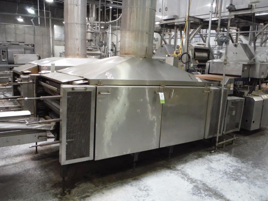Lawrence 3 pass oven, Model 0F03410-02, SN F0204, 1,000,000 BTU, Natural Gas, 108 in. long x 36 in.