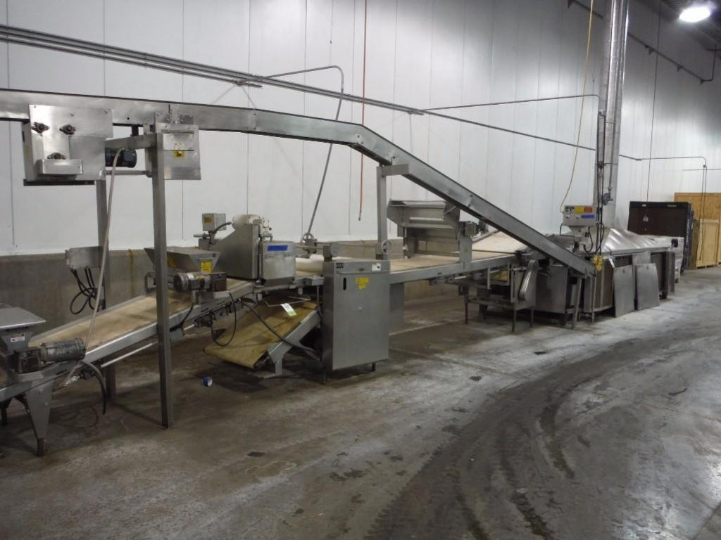 Bulk bid of lots 41, 42, 43, 44, (1) SS extruder, 46 in. long x 18 in. wide x 28 in. tall hopper, (1 - Image 2 of 6
