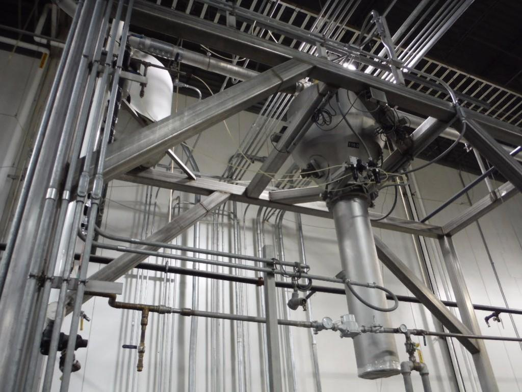 SS hopper feed system with SS control panel with Rice lake weigh systems control, and Allen-Bradley