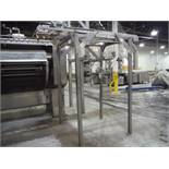 Peerless overhead conveyor, Model DCR 10, SN 206192, 108 in. long 16 in. wide x 108 in. discharge, S
