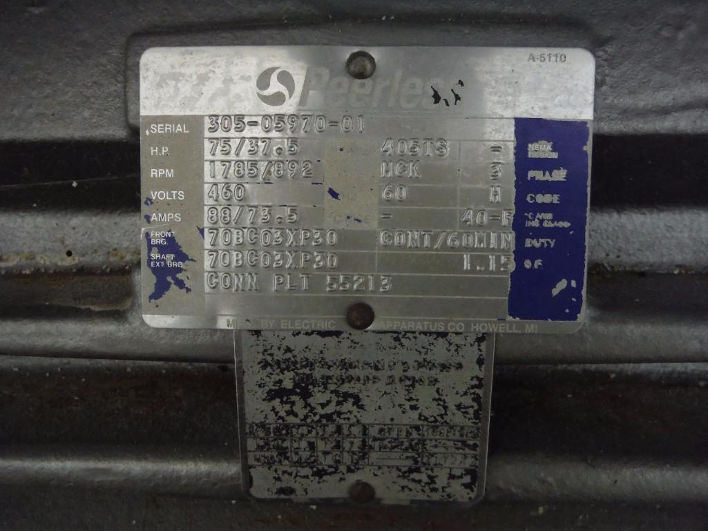 SS Peerless rollerbar mixer, Model HS10FD, SN 205052, with control panel, 75/36.5 hp, Allen- - Image 9 of 12