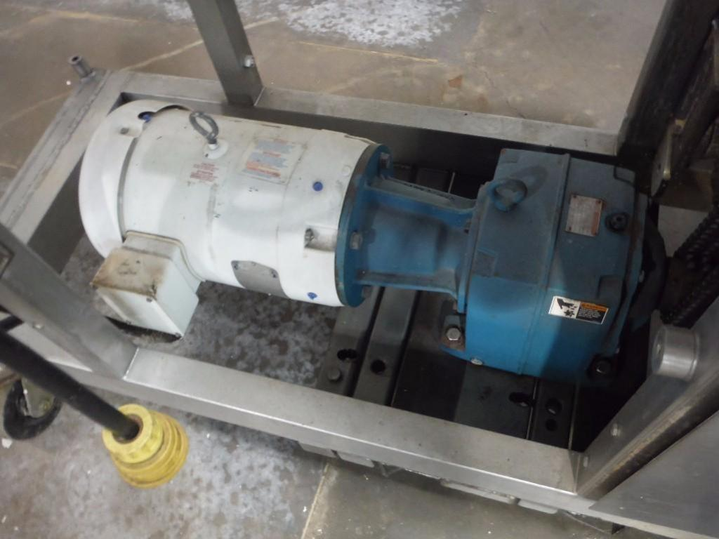 SS extruder, 46 in. long x 18 in. wide x 28 in. tall hopper / Rigging Fee: $160 - Image 2 of 8