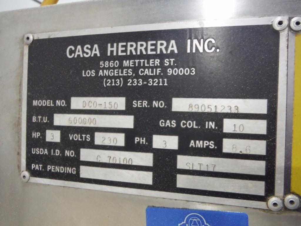 Casa Herrera oven, 144 in. long x 36 in. wide x 40 in. tall, with infeed conveyor, Model DC0-150, SN - Image 2 of 6