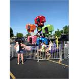 AMUSEMENT DEVICES AND MANUFACTURING Kids Ferris Wheel - 5 cars hold up to 20 children - custom trail