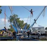 BULK LOT: 4 person Eurobungy unit with 6' x 10' trampolines and custom 20' Alumna car hauler trailer