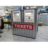 7 ft. x 7 ft. x 7 ft. 2-Window Ticket Booth w/Counter, Light and A/C