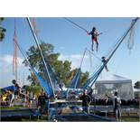 4 person Eurobungy unit with 6' x 10' trampolines - Unit inspected and permitted for 2020 by IDOL