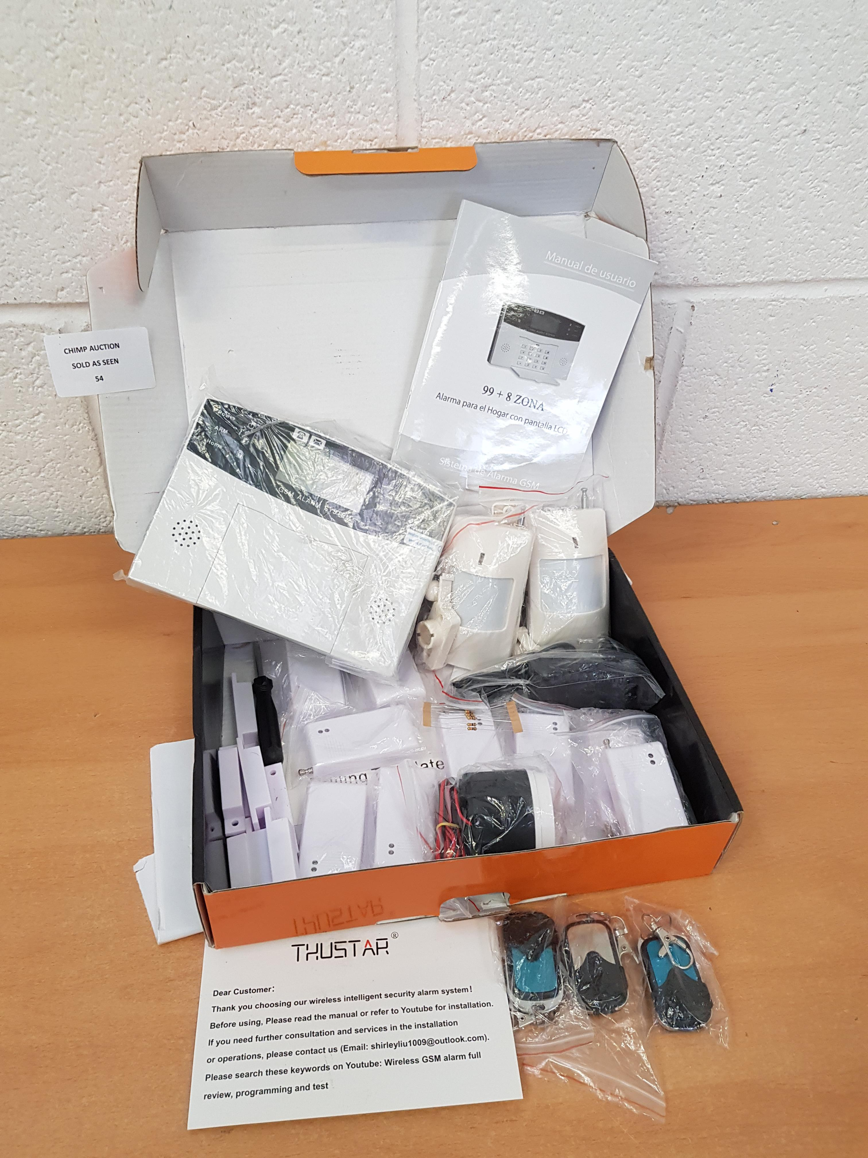 Lot 54 - GSM Alarm Security System Complete Kit RRP £199.99