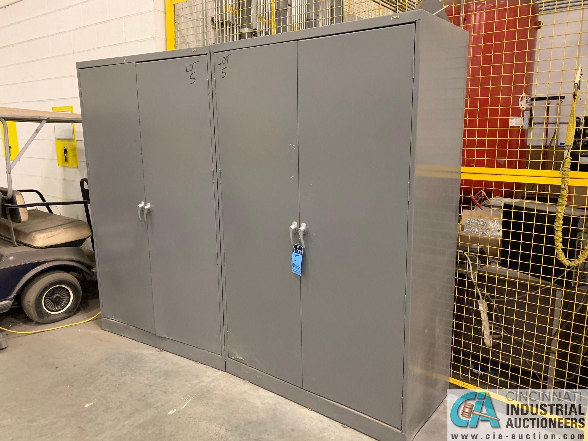 GRAY TWO-DOOR STORAGE CABINETS (5400 OAKLEY INDUSTRIAL BLVD., FAIRBURN, GA 30213)