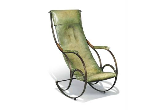 Wondrous An English Steel Rocking Chair After A Design By R W Squirreltailoven Fun Painted Chair Ideas Images Squirreltailovenorg