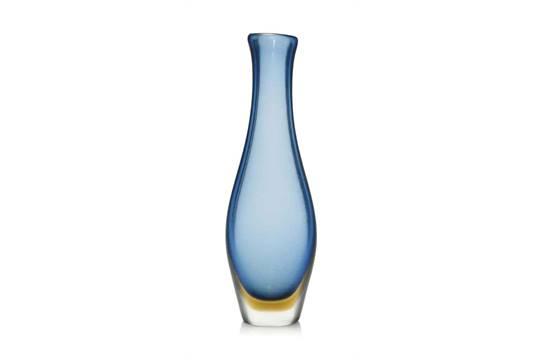 A Paolo Venini Inciso Glass Vase Circa 1960 66 The Blue Glass