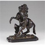 """Lot 906 - After Guillaume Coustou (1677 - 1746), Bronze """"Marley Horse"""", approx 21cm tall"""