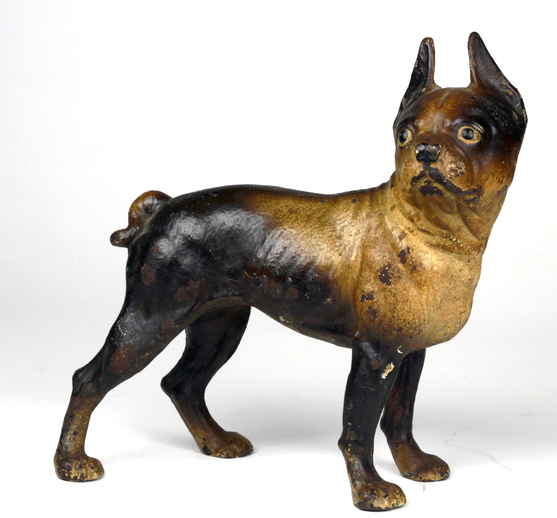 Lot 905 - Cast iron pug, circa late 19th to early 20th century, height 26cm approx.