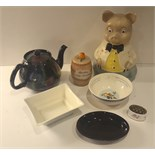 Vintage Retro Parcel of China Includes Tea Pot Pig Money Box, etc. NO RESERVE
