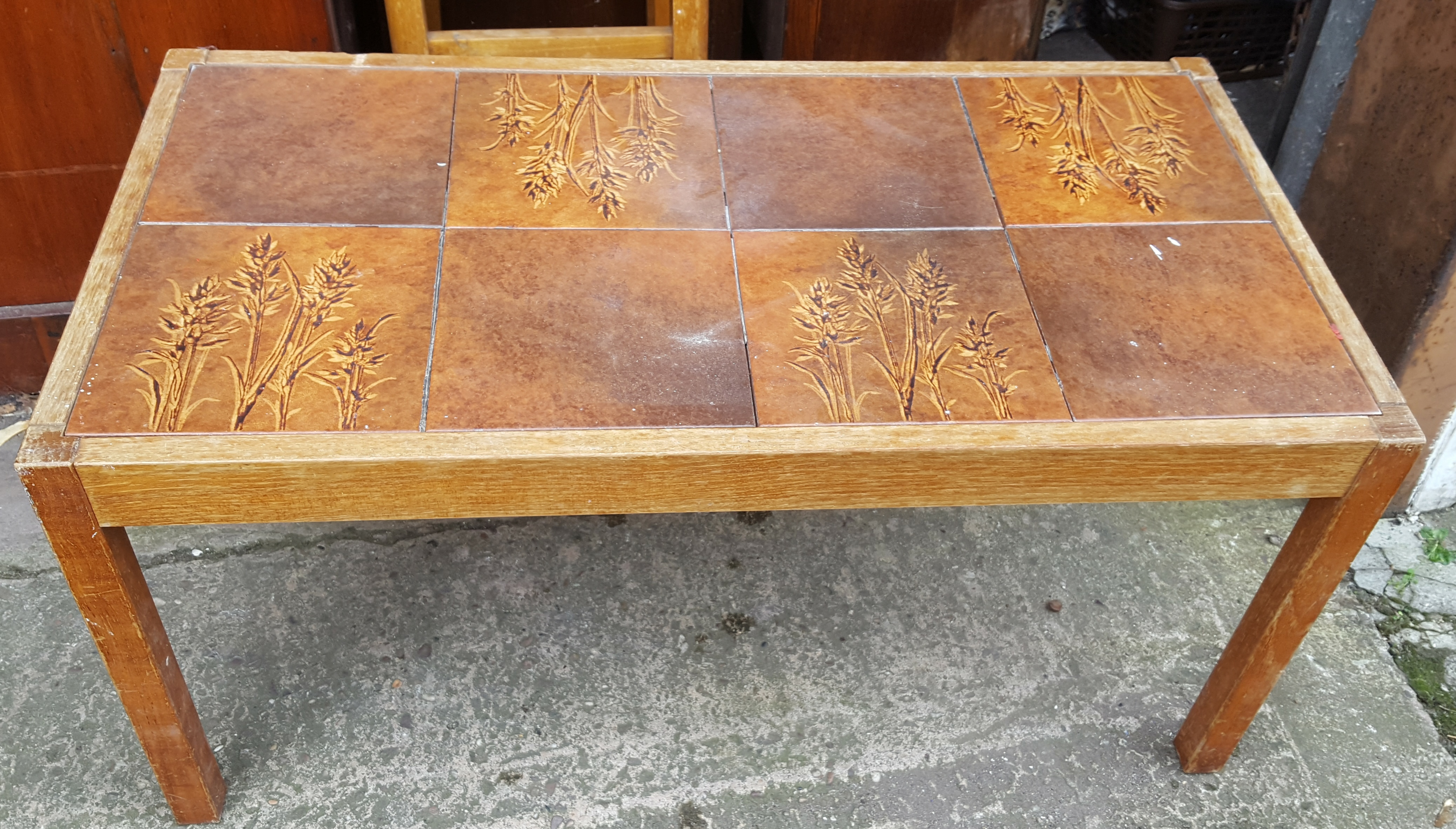Lot 49 - Retro Vintage Tiled Coffee Table NO RESERVE