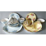 Vintage Retro 22ct Gilded Imperial English China Tea Services NO RESERVE
