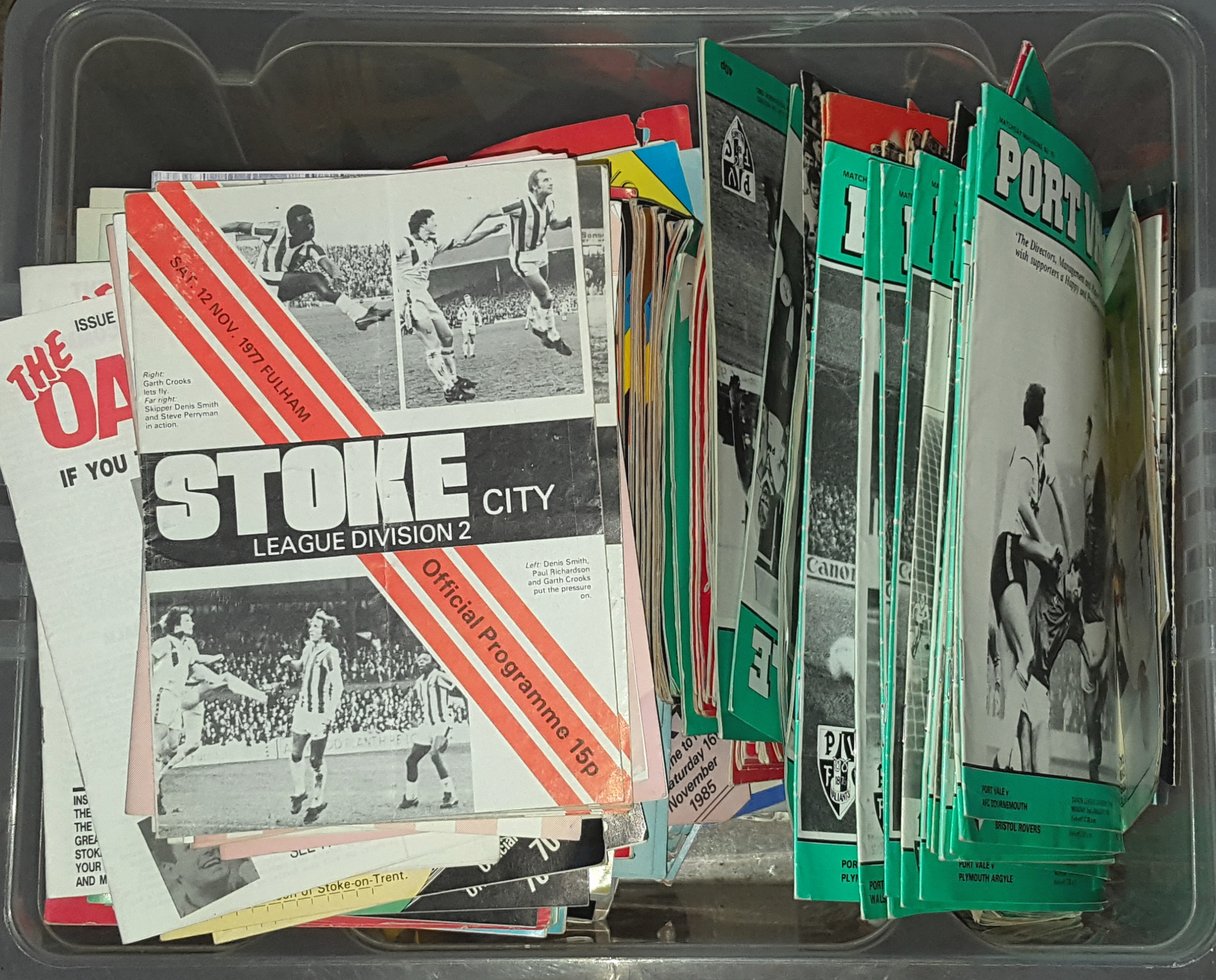Lot 37 - 300 Assorted English Football Programmes with Autographs