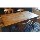 Vintage Farmhouse Table & Chairs