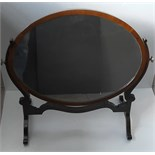 Antique Edwardian Table Top Swivel Mirror
