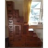 Vintage Retro Pidgeon Hole Style Storage Unit