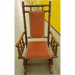Antique Vintage Child Bobbin Turned Rocking Chair