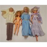 Vintage Retro 4 x Collectors Dolls Ideal Mattel & Delavennat c1960's & 1990's NO RESERVE