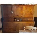 Vintage Handmade Bespoke Pine Farmhouse Dresser