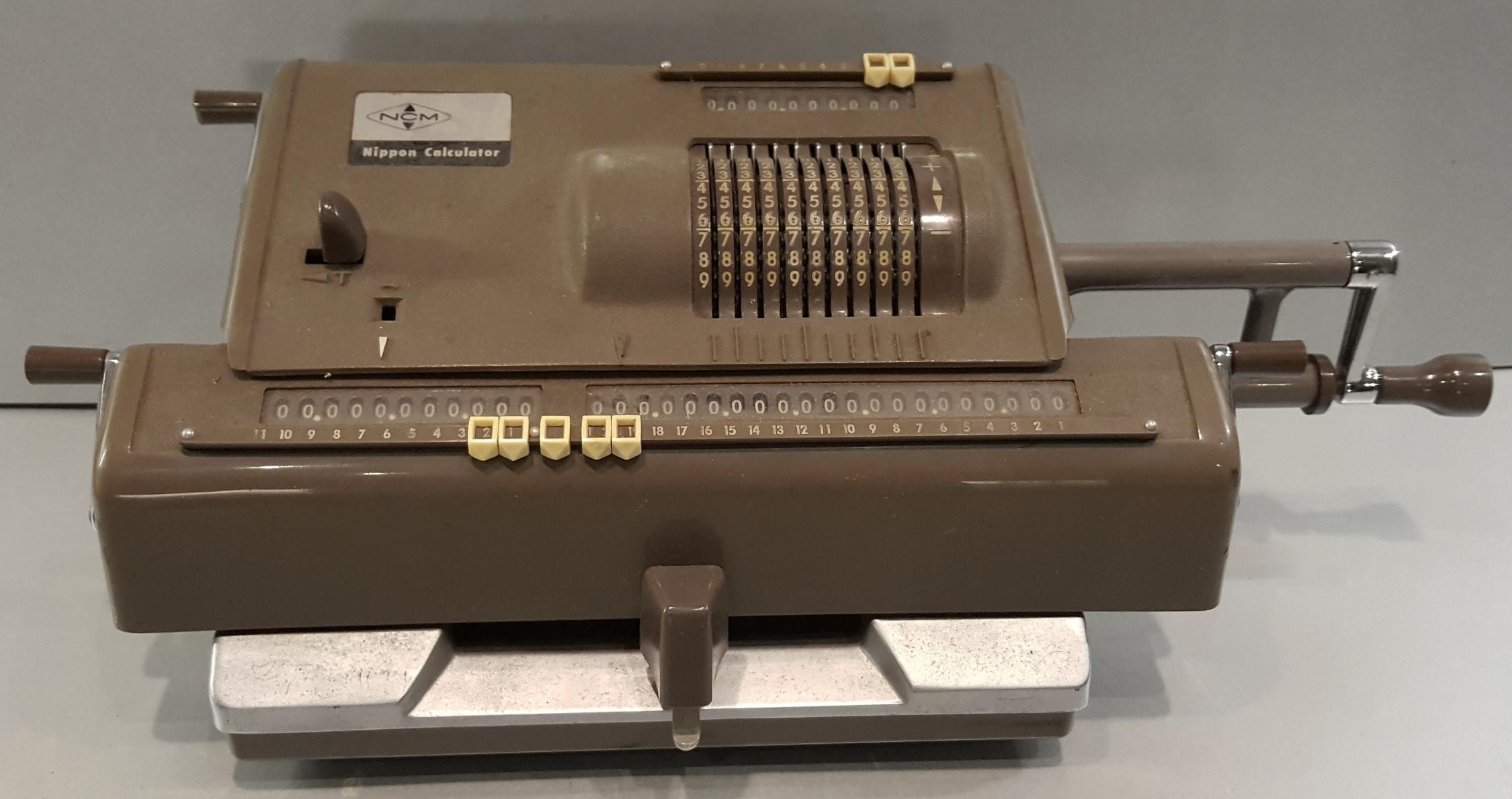 Lot 3 - Vintage Retro Scientific Instrument Nippon Calculator c1960's