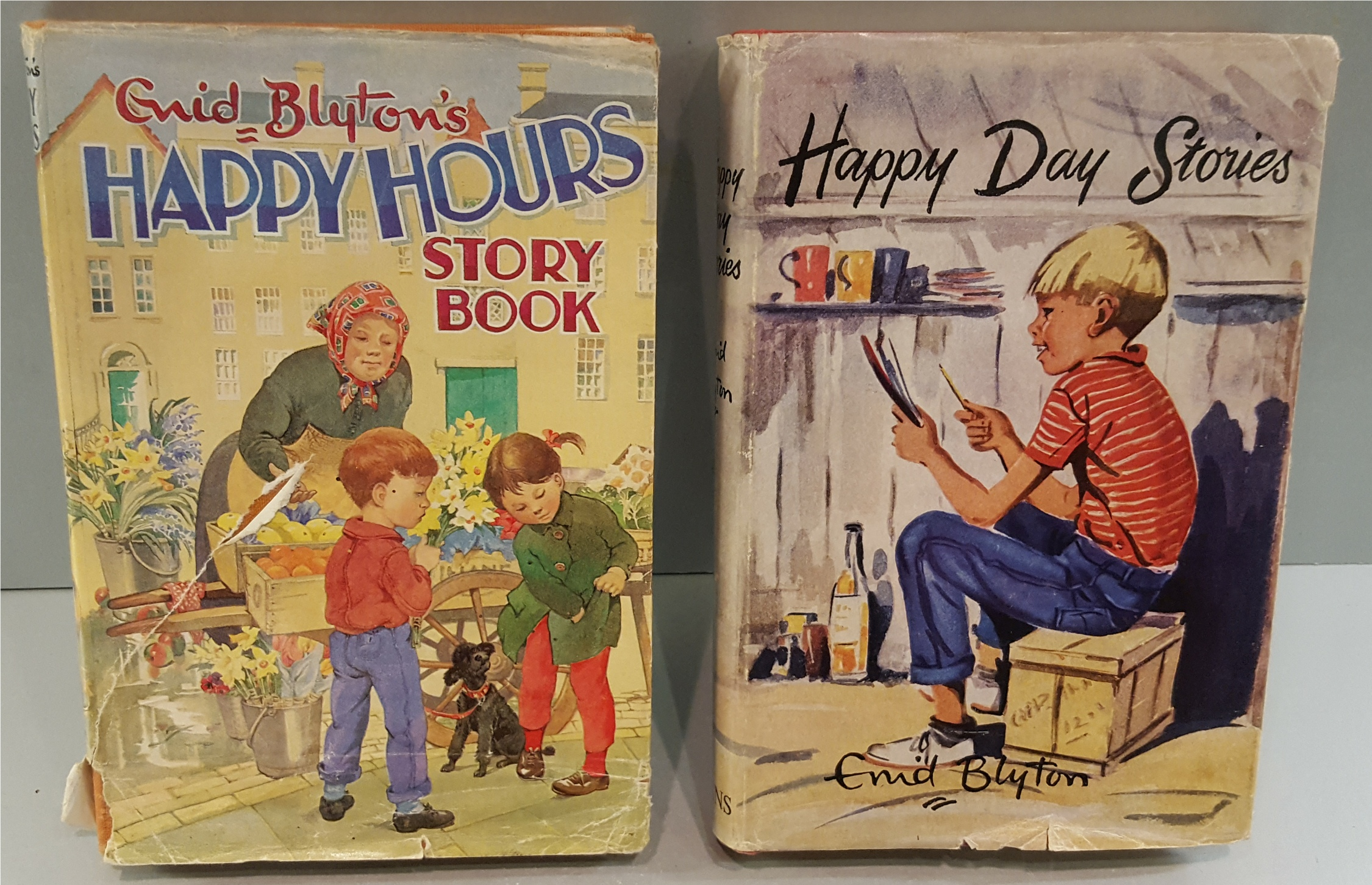 Lot 15 - Vintage Retro 2 x Enid Blyton Hard Back Books 1 with Autograph.