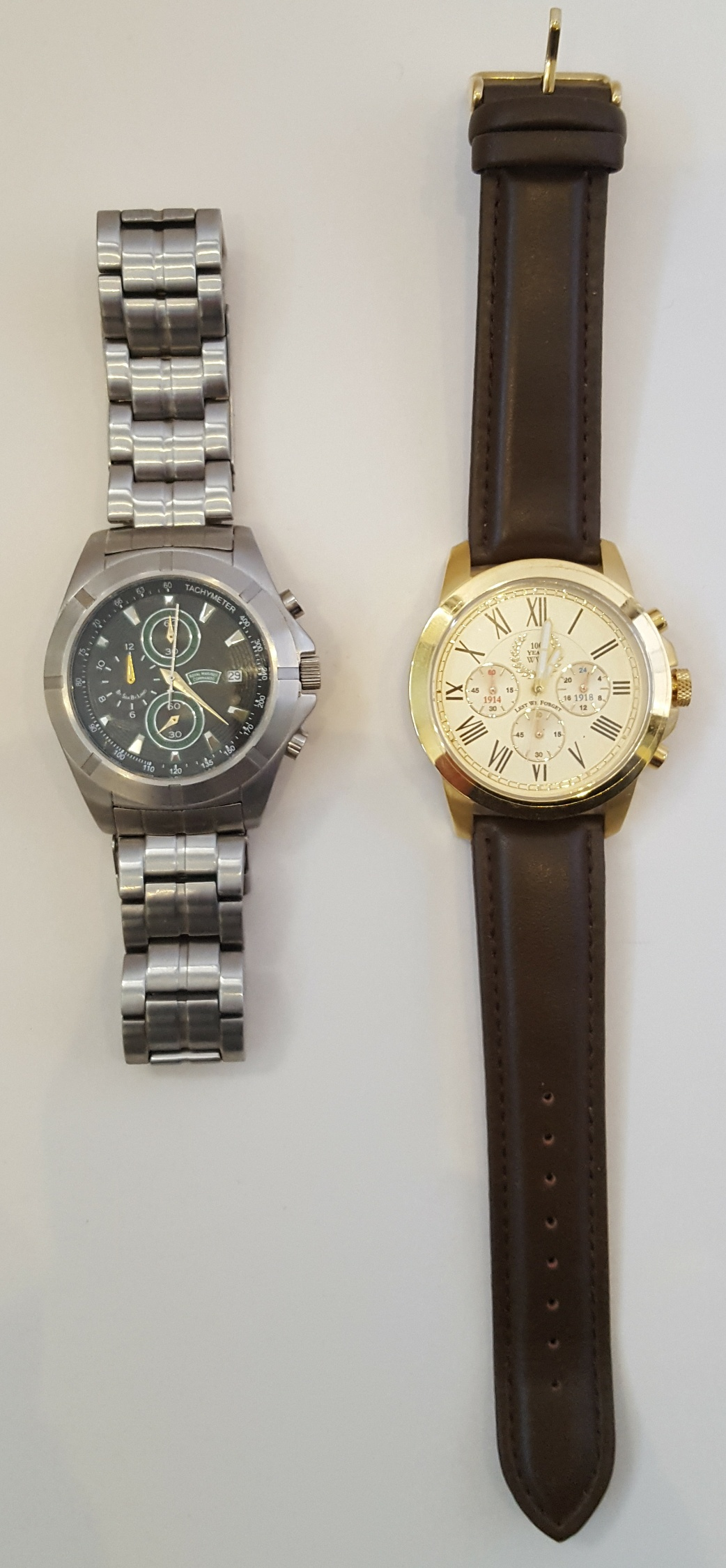 Lot 20 - Vintage Wrist Watches 1 x Royal Marine Commando & 1 x Lest We Forget WWI Rememberance Watch