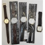 Vintage Wrist Watches 1 x Carvel 17 Jewels 3 x Eiger & 1 x Limit