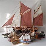 Vintage Retro Collection of 8 Model Ships