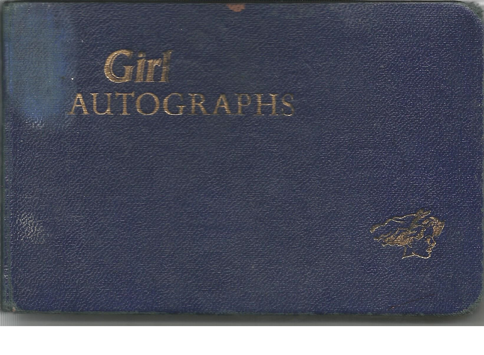 Lot 25 - 1960s Music TV Small blue autograph book. A good 1960s book containing many musical & TV notables of