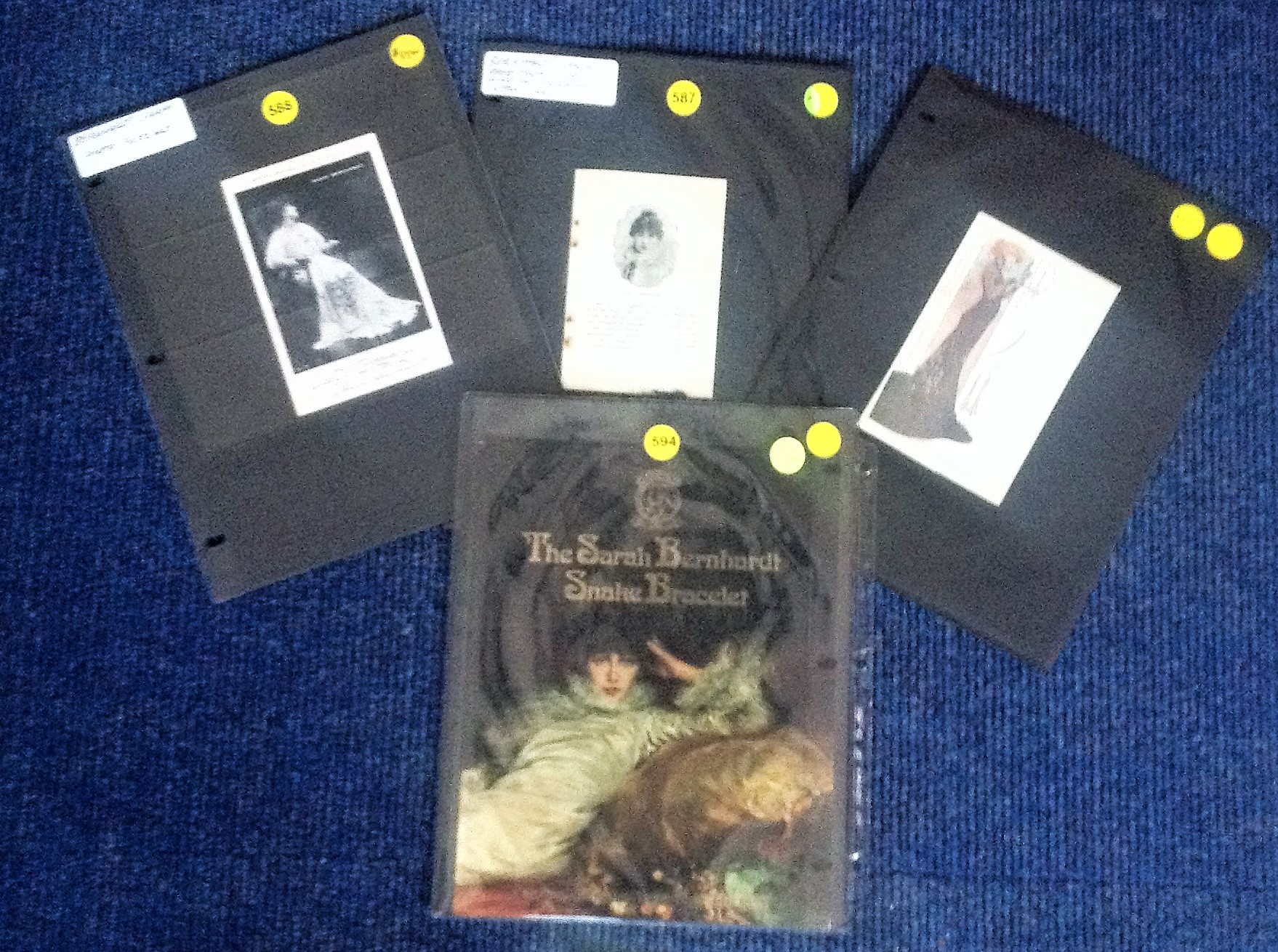 Lot 8 - Sarah Bernhardt collection. 22 or 23 October 1844 - 26 March 1923) was a French stage actress who
