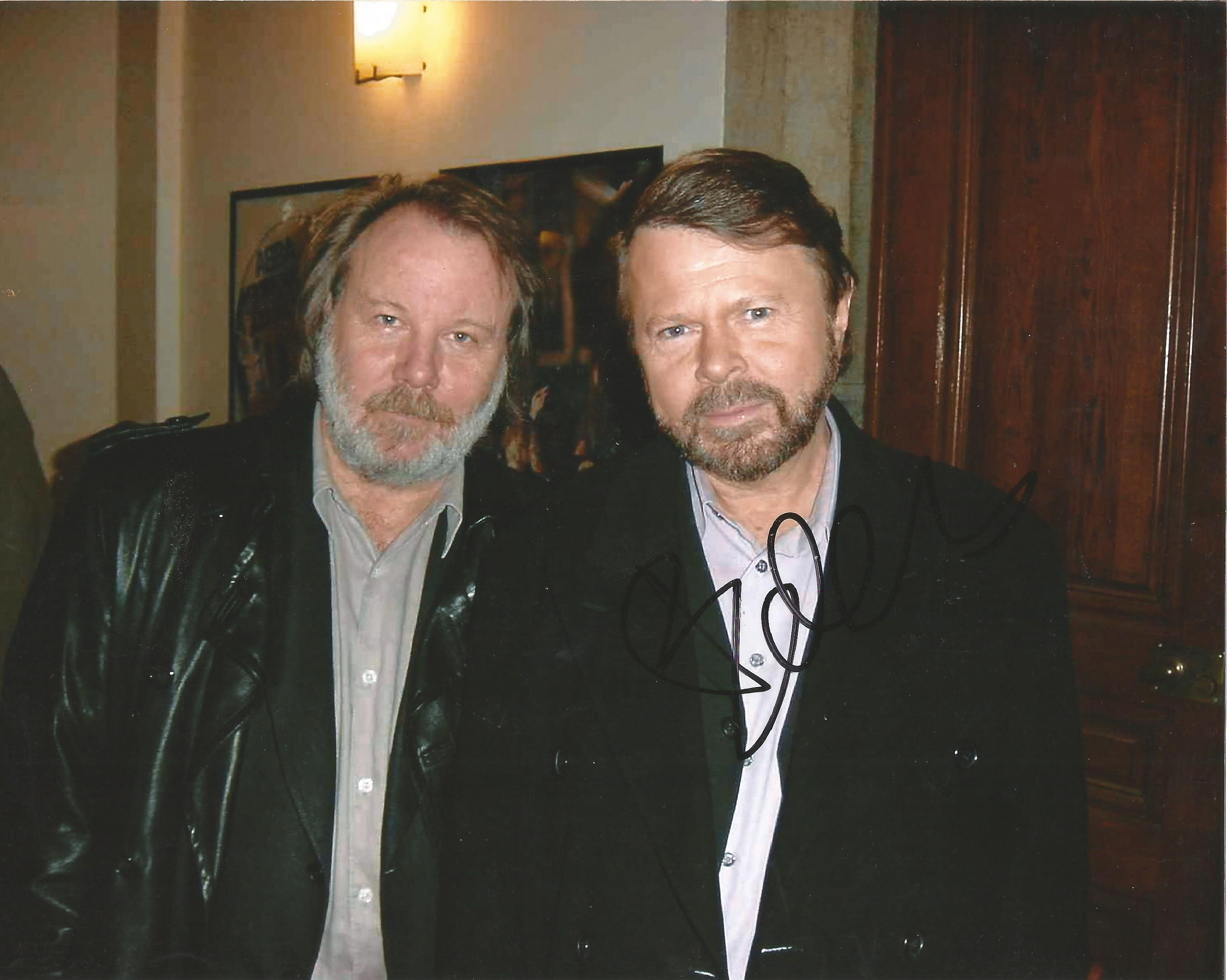 Lot 48 - Bjorn Kristian Ulvaeus signed 10 x 8 colour Abba Landscape Photo, from in person collection