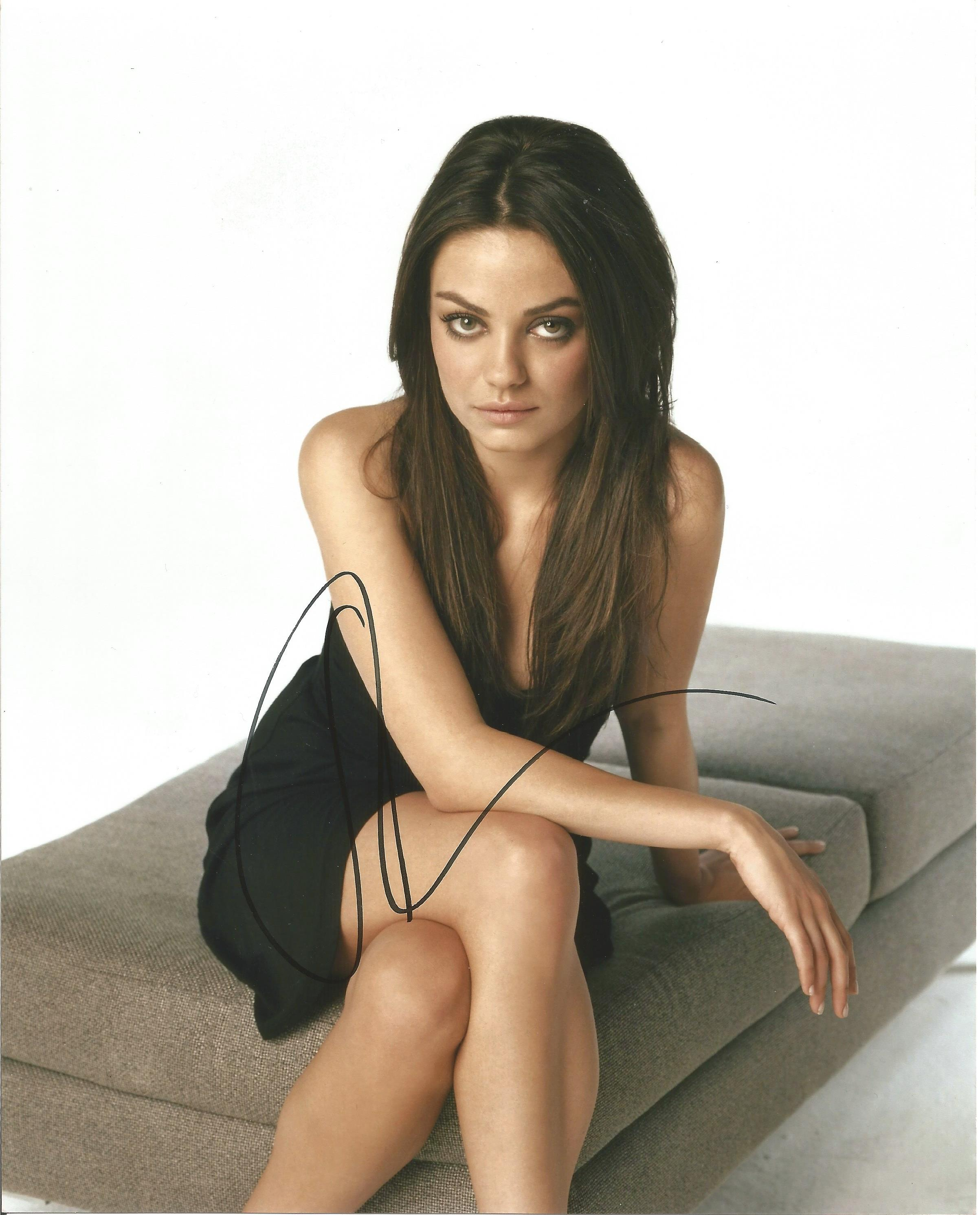 Lot 57 - Mila Kunis signed 10 x 8 colour Photoshoot Portrait Photo, from in person collection autographed