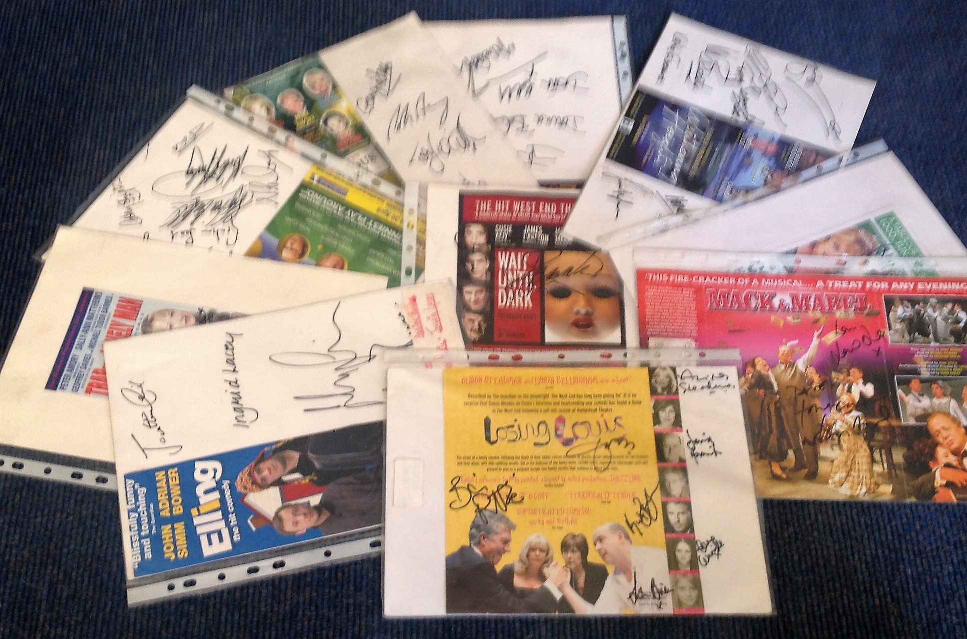 Lot 17 - Theatre flyer signed collection. 10 flyers included. Mostly multisigned. Some of signatures included