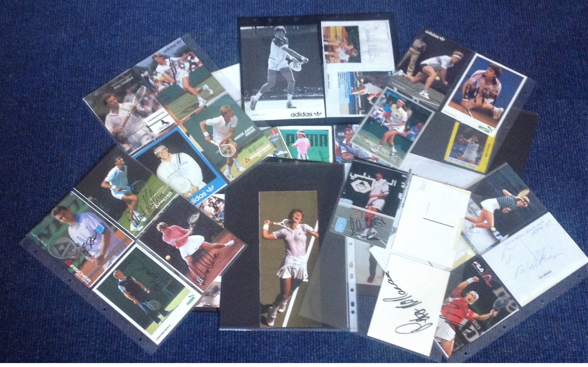 Lot 7 - Tennis signed collection. 55 items mainly 6x4 colour photos. Some of signatures included are