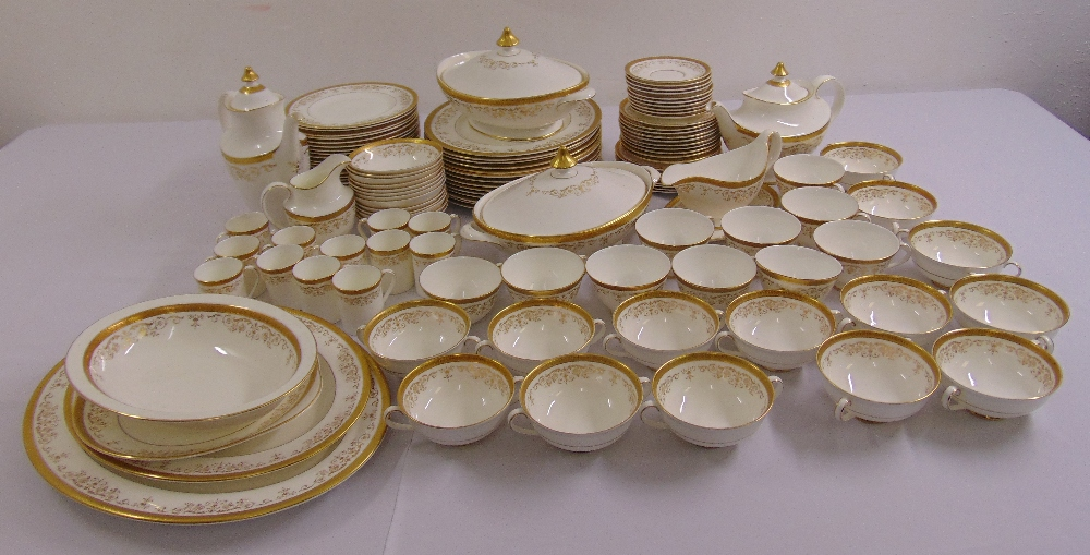 Royal Doulton Belmont dinner and tea service to include plates, bowls, cups, saucers, a teapot, a