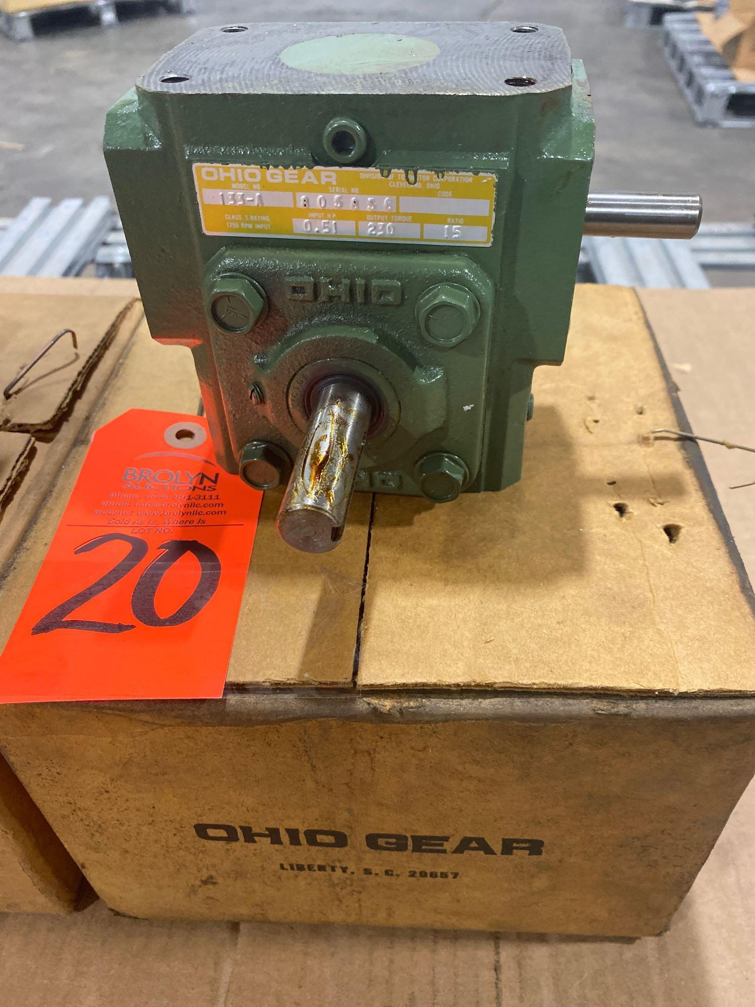 Lot 20 - Ohio Gear model 133-A gearbox. 15:1 ratio. New in box.