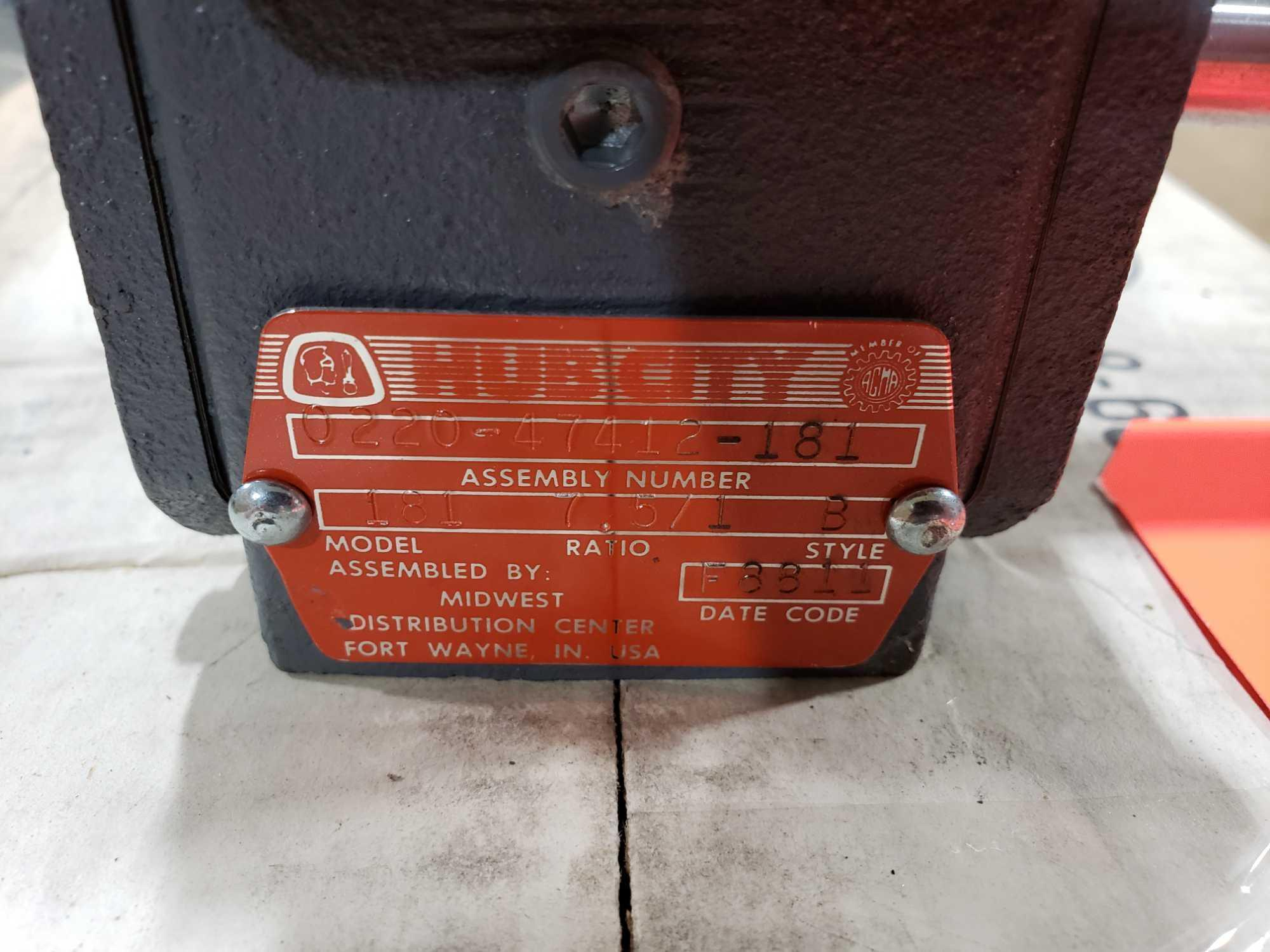 Lot 36 - Hub City model 181 gear box. Ratio 7.5/1. Style B. New in box.