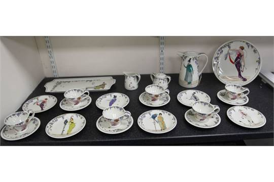 A Villeroy Amp Boch Design 1900 Twenty Five Piece Tea And Coffee